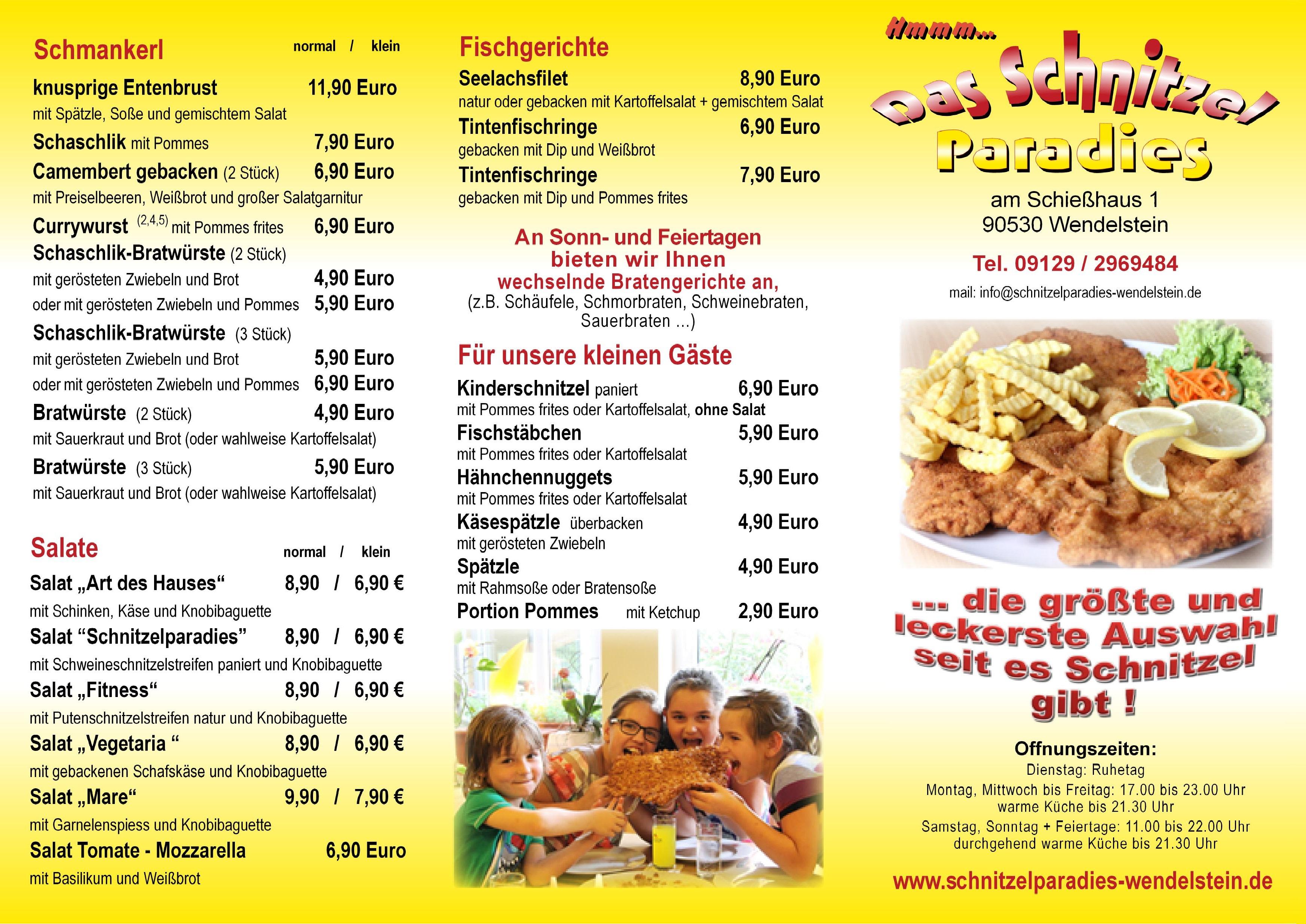 schnitzelparadies nürnberg speisekarte | schnitzelparadies nürnberg