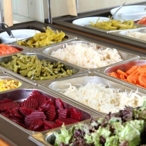 Salattheke im Restaurant